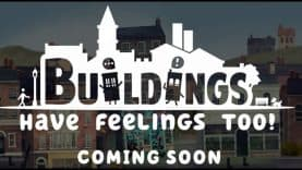 Play as the Halfway House Hotel in city-management/puzzle game, Buildings Have Feelings Too